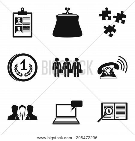 Key moment icons set. Simple set of 9 key moment vector icons for web isolated on white background