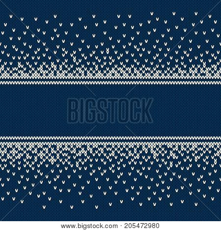 Christmas and New Year Design Knitted Background with a Place for Text. Knitting Sweater Design. Wool Knit Texture Imitation