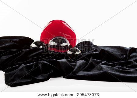 Black Velvet, Glasses Balls and Red Glasses Circle