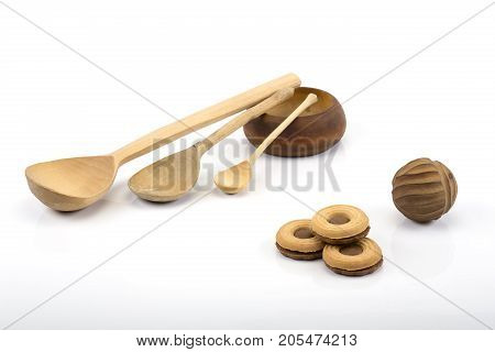Russian Spoons and Cookies (wooden spoon, ball and food)