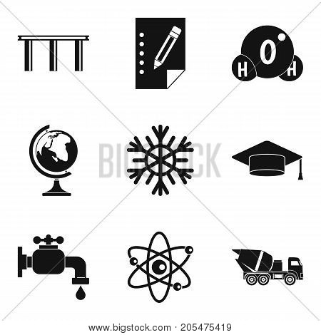 Material supply icons set. Simple set of 9 material supply vector icons for web isolated on white background