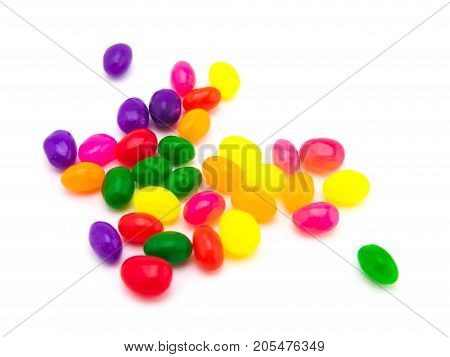 Colorful Jelly Beans (white Background)