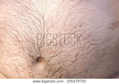 great man's stomach . Photo of an abstract texture