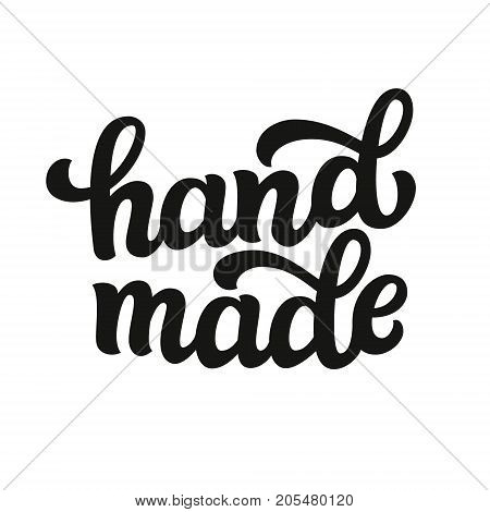Hand Made. Vector Lettering Inscription