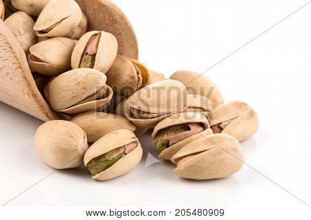 Pistachio Nut On White