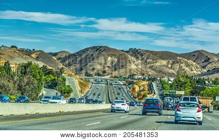 Pacific Coast Highway on a clear day. California USA