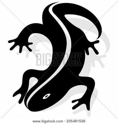 Vector design Salamander. Silhouette of salamander vector design. Vector illustration, EPS 10