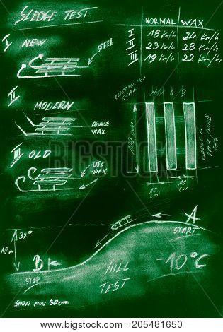 Green Handmade Diagram Of Testing Procedure Sledge
