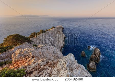 Cape Doukato in the Lefkada island Greece