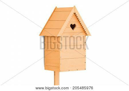 Nest box 3D rendering isolated on white background