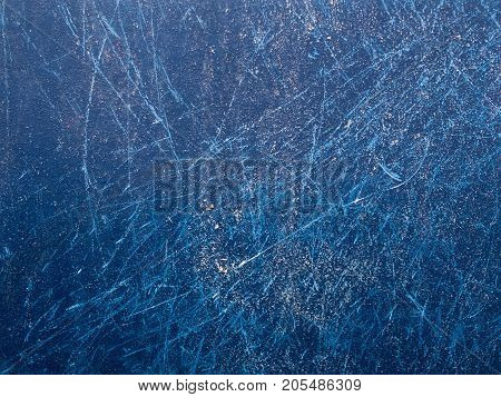 Old damaged blue fiberglass texture close up
