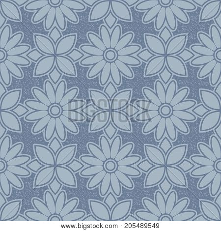 Abstract seamless pattern in vegetable in style. Floral motifs. Muted colors.