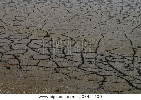 Cracked dry clay earth erosion -  Background texture