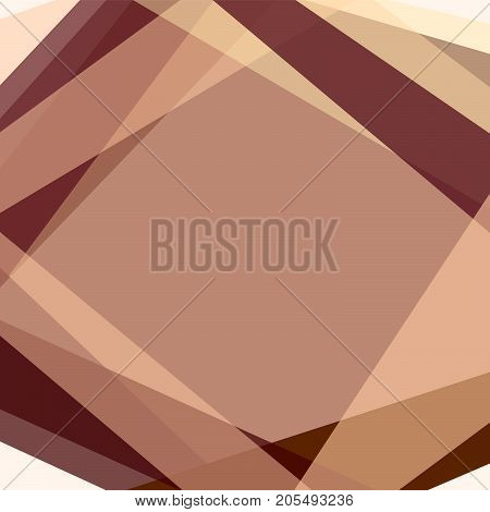Abstract square background with brown, bordo, beige lines forming rhombus. Effect of stained-glass window. Geometric template for wallpapers, covers, layouts, scrapbooking. Vector EPS 10