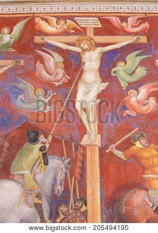 Fresco In San Gimignano - The Crucifixion