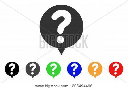 Status Balloon icon. Vector illustration style is a flat iconic status balloon symbol with black, grey, green, blue, yellow color versions. Designed for web and software interfaces.