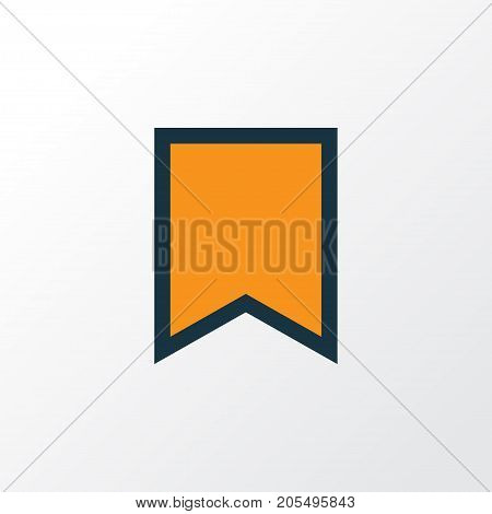 Premium Quality Isolated Flag Element In Trendy Style.  Bookmark Colorful Outline Symbol.