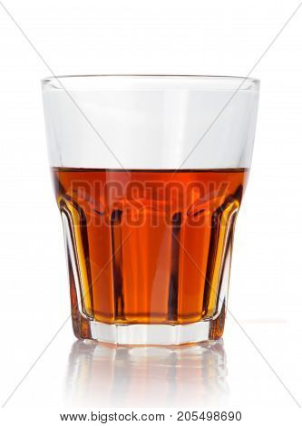 half a glass of fragrant old whiskey