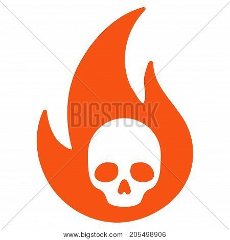 Hell Fire flat vector pictogram. An isolated illustration on a white background.