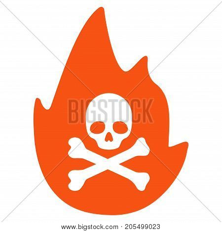 Hellfire flat vector illustration. An isolated illustration on a white background.