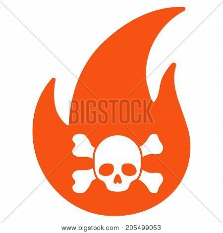 Hellfire flat vector pictogram. An isolated illustration on a white background.
