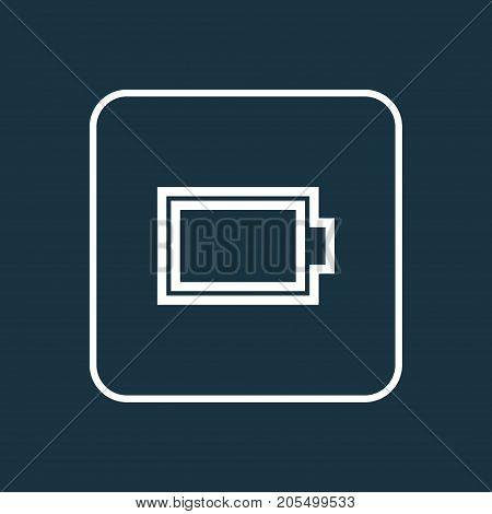 Premium Quality Isolated Empty Accumulator Element In Trendy Style.  Energy Outline Symbol.
