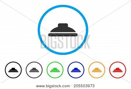 Shower Head rounded icon. Style is a flat shower head grey symbol inside light blue circle with black, gray, green, blue, red, orange color versions. Vector designed for web and software interfaces.
