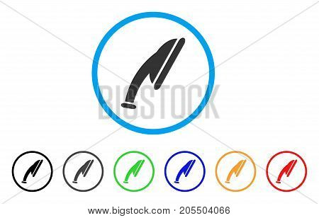 Shower Head rounded icon. Style is a flat shower head gray symbol inside light blue circle with black, gray, green, blue, red, orange variants. Vector designed for web and software interfaces.