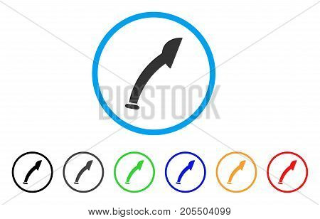 Shower Head rounded icon. Style is a flat shower head grey symbol inside light blue circle with black, gray, green, blue, red, orange variants. Vector designed for web and software interfaces.