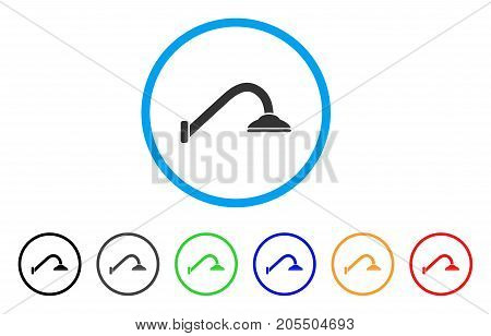 Tap Mixer rounded icon. Style is a flat tap mixer grey symbol inside light blue circle with black, gray, green, blue, red, orange versions. Vector designed for web and software interfaces.