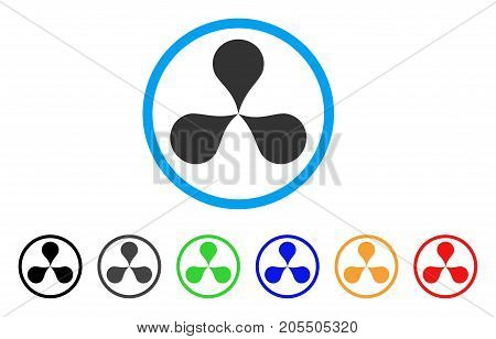 Map Pointers rounded icon. Style is a flat map pointers grey symbol inside light blue circle with black, gray, green, blue, red, orange variants. Vector designed for web and software interfaces.