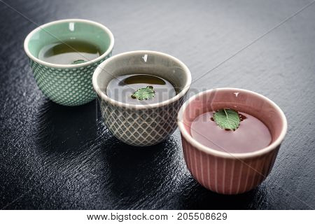Green Tea In  Small Cups
