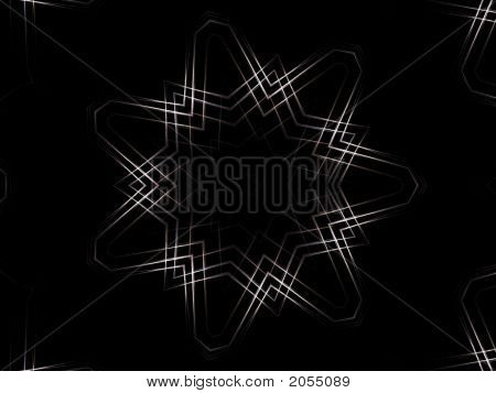 Lighted Star On Black