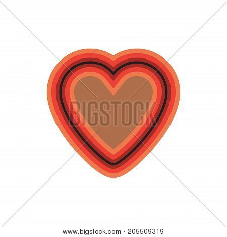 iridescent heart with a multicolored stroke. vector illustration.