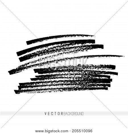 Vector handmade marker strokes. Grunge design elements. Hand drawn textured background. Greyscale.