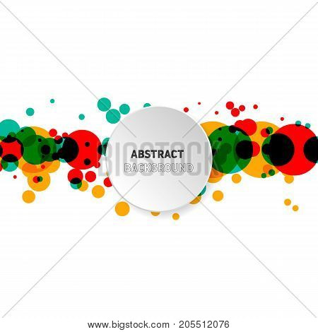 Abstract modern background decorative with geometric shape vector illustration