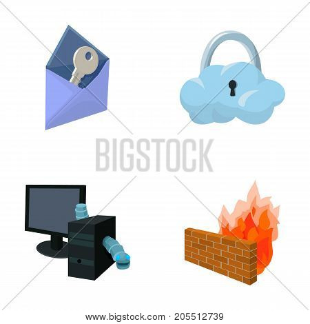 System, internet, connection, code .Hackers and hacking set collection icons in cartoon style vector symbol stock illustration .