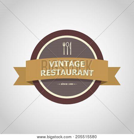 Restaurant vintage badge style , stock vector