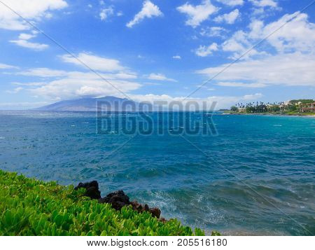 Spectacular Resort Area at Wailea Beach with View of West Maui Mountains, Wailea Beach, Maui, Hawaii