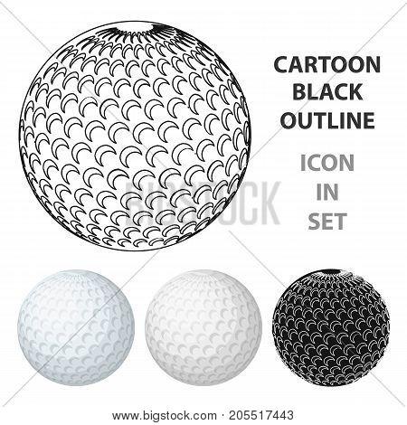 Golf ball.Golf club single icon in cartoon style vector symbol stock illustration .