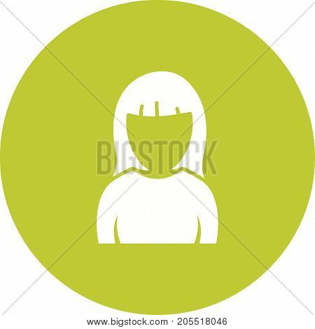 Hair, girl, bangs icon vector image. Can also be used for Avatars. Suitable for use on web apps, mobile apps and print media.