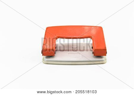 An Orange Paper Punch Isolated