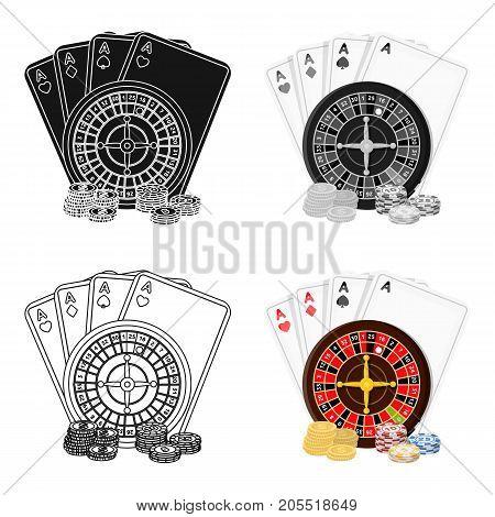 Casino, single icon in cartoon style.Casino vector symbol stock illustration .