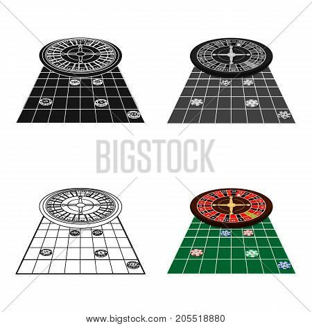 Roulette, single icon in cartoon style.Roulette, vector symbol stock illustration .
