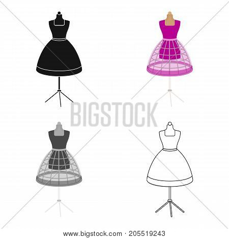 Equipment, mannequin for sewing women's clothing. Sewing and equipment single icon in cartoon style vector symbol stock illustration .