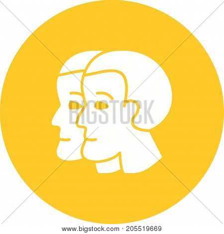 Gemini, sign, zodiac icon vector image. Can also be used for Zodiac. Suitable for use on web apps, mobile apps and print media.