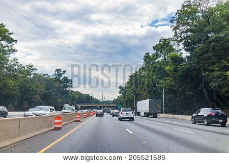 Kensington, Usa - September 16, 2017: Highway With Church Of Jesus Christ Of Latter-day Saints Mormo