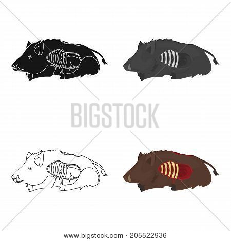 Boar single icon in cartoon style.Boar, vector symbol stock illustration .