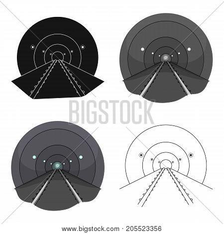 Tunnel, single icon in cartoon style.Tunnel, vector symbol stock illustration .