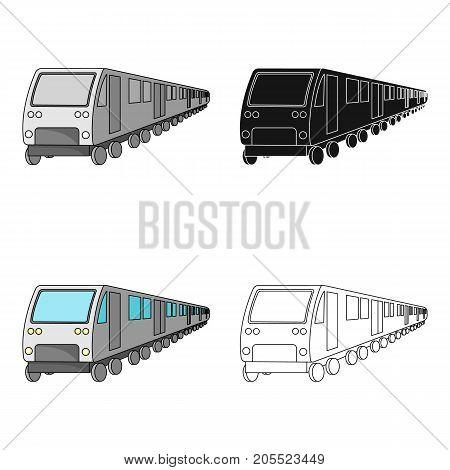 Train, single icon in cartoon style.Train, vector symbol stock illustration .